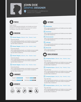 Graphic Designer Resume CV - vector #180063 gratis