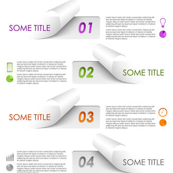 Creative Flip Edge Paper Infographic Set - Free vector #180113