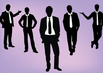 Silhouette Dynamic Corporate People Pack - vector gratuit #180143