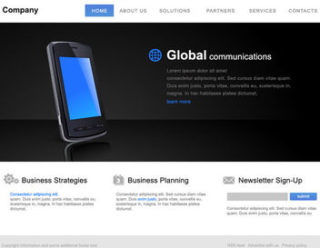 Classic Style Corporate Website Template - Free vector #180153