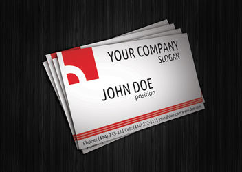 Abstract Red Corporate Business Card - vector gratuit #180183