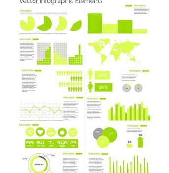 Flat Style Template Infographic Set - Free vector #180193
