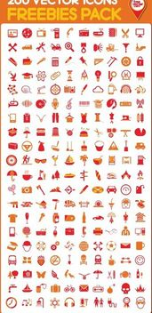 Honed Set of 200 Fantastic Icons - vector #180213 gratis