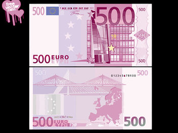 Front & Back Side of 500 Euro Banknote - vector gratuit #180293