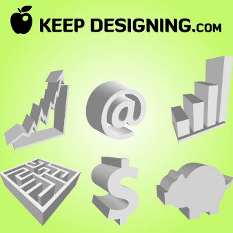 3D Corporate Economical Sign Pack - бесплатный vector #180303