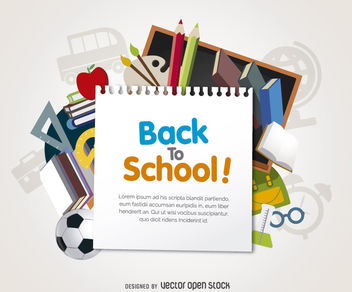 Back to School design - vector #180323 gratis