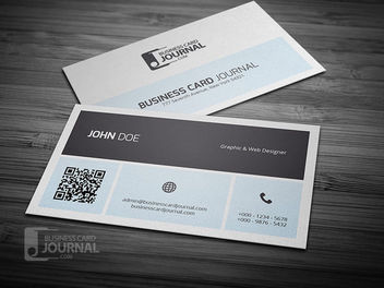 Simplistic Business Card with QR Code - Free vector #180393