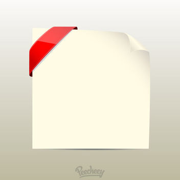 Curly Edge Red Labeled Paper - Free vector #180403