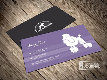 Simple Dog Groomer Business Card - Kostenloses vector #180413