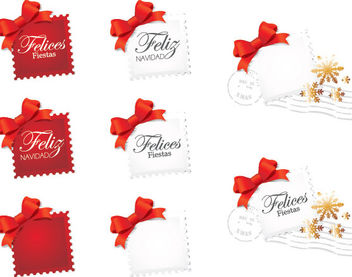 Beautiful Seasonal Stamp Pack Template - Free vector #180453