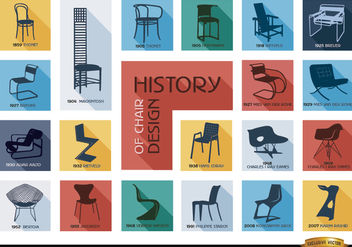 History of chair design - vector gratuit #180483