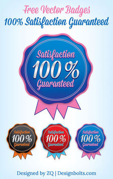 Rounded Satisfaction Guaranty Badge Template - vector gratuit #180513
