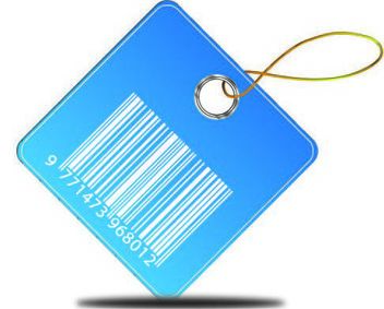 Blue Barcode Price Tag - Free vector #180573