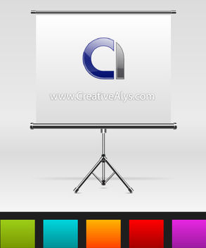 Beautiful Metallic Presentation Board Showcase - Free vector #180603