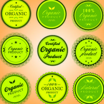 Organic Elliptical Product Sticker Pack - vector gratuit #180613