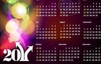 Colorful 2011 Vector Calendar - vector #180653 gratis