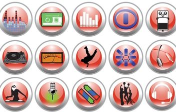 Free Vector Music and Nightlife Icon Set - Kostenloses vector #180663