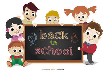 Back to School Children - Kostenloses vector #180683
