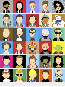 30 Avatars film famous characters - Kostenloses vector #180733