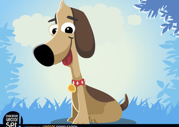 Funny dog cartoon animal - Free vector #180823