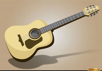 Acoustic guitar musical instrument - Free vector #180873