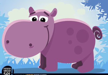 Cartoon hippopotamus Animal - бесплатный vector #180903