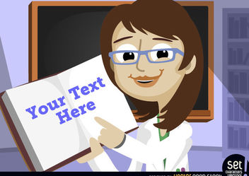 Teacher pointing message in textbook - vector #181053 gratis