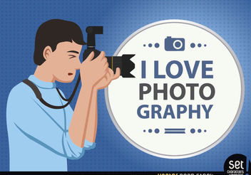 Photographer Loves his Profession - Free vector #181103