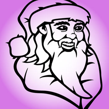 Outline Hand Drawn Santa Claus Face - Kostenloses vector #181153