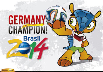 Germany Champion Mascot Brazil 2014 - бесплатный vector #181203