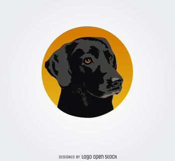 Black Dog Circle Logo - vector gratuit #181243
