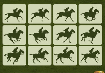 Horse racing sport motion frames - Free vector #181253