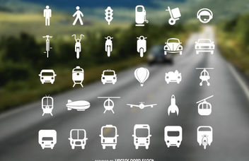 Transport Flat Icon Set - vector gratuit #181333