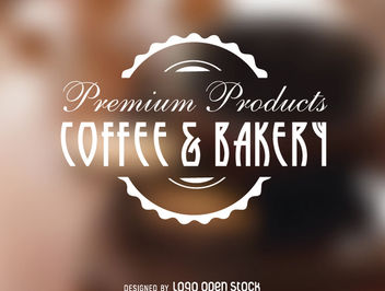 Coffee Bakery Vintage Logo Seal - vector gratuit #181353
