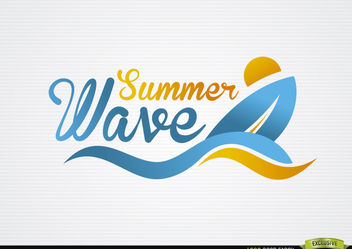 Surfing Boat Waves Beach Logo - vector gratuit #181383