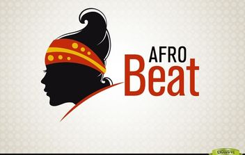AfroBeat Woman Fashion Logotype - vector gratuit #181423