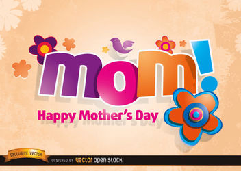 Mom logo with Flowers in Mother's day - Free vector #181463