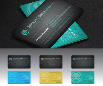 Front & Back Attorney Business Card - vector gratuit #181513
