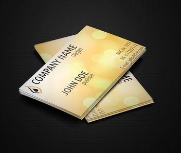 Shiny Yellow Business Card - vector #181533 gratis
