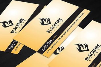 Black Fire Business Card - Free vector #181543