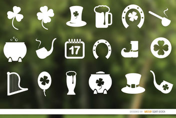 18 St. Patrick's Day icons - vector gratuit #181613