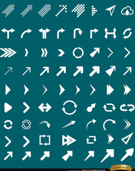 63 Arrow icons set - Free vector #181643