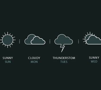 Outlined Weather Forecast Icons - vector #181743 gratis