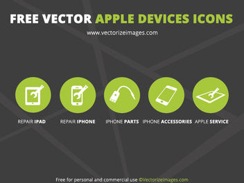 5 Minimalist Apple Device Icons - vector #181753 gratis