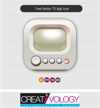 Nice & Simplistic TV App Icon - vector gratuit #181763
