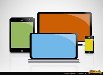 Computer mobile screens - vector gratuit #181843