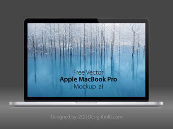 Apple MackBook Pro Mockup - Free vector #181853