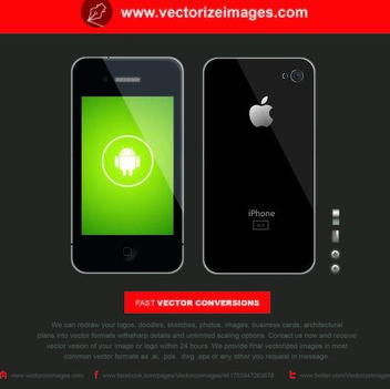 Realistic Black iPhone 5 Front & Back - Free vector #181863