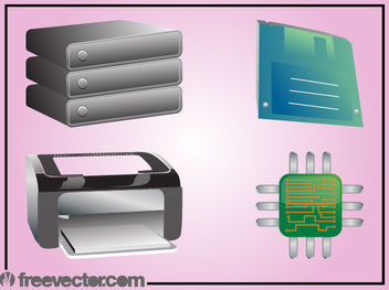Computer Technology Device Pack - vector gratuit #181873