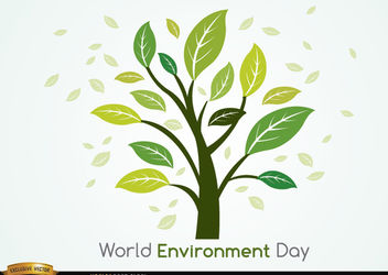 Plant and leaves world environment day - Free vector #181903